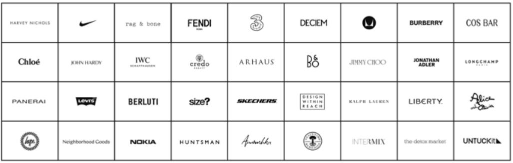 different brands collected