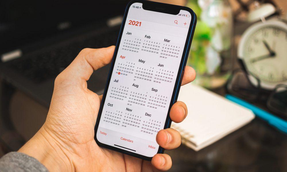 calendar displayed on